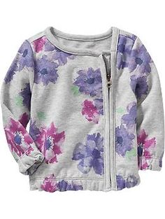 Floral Terry-Fleece Jackets for Baby | Old Navy
