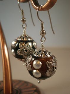 Marakesh-Exotic Embellished Bead Earrings-Free Shipping-by Bonewear, $20.00