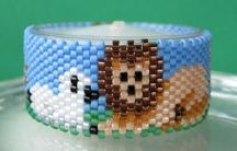 The Lion and The Lamb Tea Light Cover by Diane Masters AKA Phoenix Wolf Creations