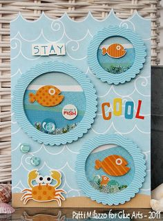 cool fish shaker card