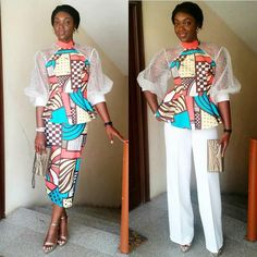 Ankara styles in the hottest realm are on board. We are taking it to the next levels by trying out new things and adding fabrics to ankara!