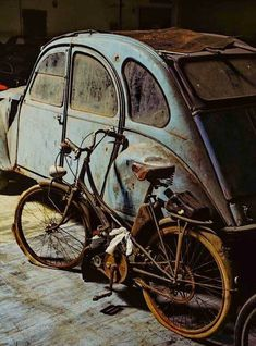 This can be very true with regards to about Vintage Motorcycles. Drive one nearby and all minds transform, nodding in approval. Abandoned Cars, Abandoned Places, Vintage Motorcycles, Cars And Motorcycles, Old Bicycle, Bike, Van Vw, Rust Never Sleeps, 2cv6