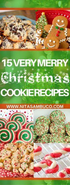 15 Very Merry Christmas Cookie Recipes #cookies #christmas #christmascookies #cookieexchange