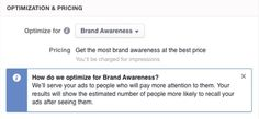 "Optimierungsvariante ""Brand Awareness"" (Quelle: Facebook)"