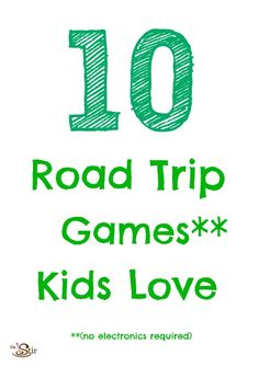 Road trip games are a must for summer travel -- fun ideas here: http://thestir.cafemom.com/toddler/156065/10_fun_road_trip_games?utm_medium=sm_source=pinterest_content=thestir