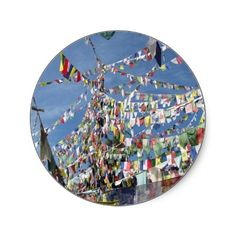SOLD 5 sets of Prayer Flags Round Stickers to Colorado...