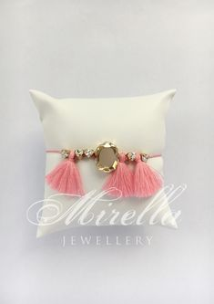 Mrs. Milligan Delicate Pink | Mirella Jewellery bracelet | hand-crafted in Vienna | #bracelet #mirellajewellery #tasselbracelet #tassels #swarovski #swarovskicrystals #tasseljewellery #jewellery #boho #gipsy Jewellery Bracelets, Jewelry, Tassel Bracelet, Vienna, Wrapping, Swarovski Crystals, Tassels, Delicate, Boho
