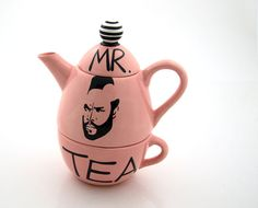 Pink Mr. T Tea For One By Lennymud on Etsy by LennyMud on Etsy, #mothersday #teapots