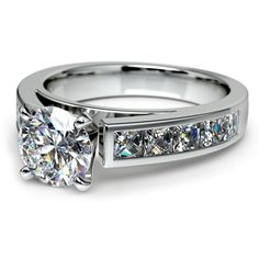 Ready to pop the question of a lifetime? Give your beloved the ultimate sparkling surprise with the stylish Channel Diamond Engagement Ring set in durable Platinum!  http://www.brilliance.com/engagement-rings/princess-channel-diamond-ring-platinum-1-ctw