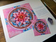 mandala health pink lotus flower healing regeneration vitality