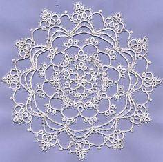 Gorgeous free tatting pattern for a doily