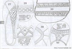 Вязаная крючком летняя обувь. Схемы (14) (700x481, 287Kb)