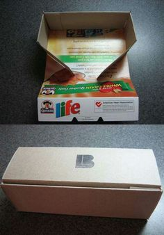 Fold cereal boxes to use for gift giving. Where has this been all my life?