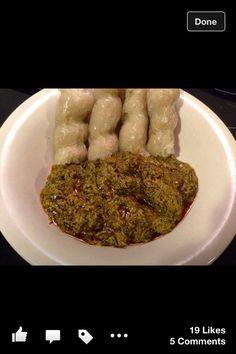 Cassava leave n bobolo