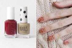 Check out these awsome thanksgiving nail ideas. cherry pie ;)