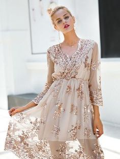 Cheap dress vestidos, Buy Quality sequin party dress directly from China midi dress Suppliers: Simplee V neck long sleeve sequin party dresses women Sexy mesh streetwear christmas midi dress female 2017 autumn dress vestido Sequin Midi Dress, Sequin Party Dress, Mesh Dress, Embellished Dress, Lace Dress, Bling Dress, Lace Maxi, Sheer Dress, Dress Red