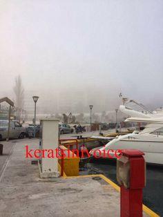 Keratsini Voice - Κερατσίνι Voice: Γέμισε ομίχλη ο Πειραιάς (photos)