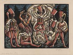 """Władysław Skoczylas, """"Taniec zbójników I"""", 1919, Muzeum ASP w Warszawie (źródło: materiały prasowe)"""