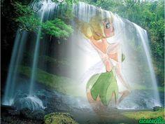 Sininho charme na cachoeira
