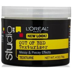 L'Oreal Studio Line Out of Bed Texturizing Gel-Cream 4 oz (Pack of 2) - Walmart.com