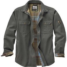 Men's Journeyman Flannel Lined Rugged Shirt Jacket | Legendary Whitetails