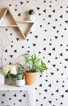 Tiny Hand Sketched Triangles  - WALL DECAL by TheLovelyWall on Etsy https://www.etsy.com/listing/227839244/tiny-hand-sketched-triangles-wall-decal