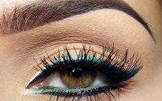 Ombre eyeliner.. Makijaż: cieniowana kreska