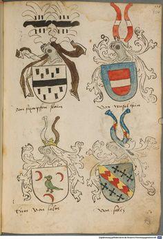 Tirol, Anton: Wappenbuch Süddeutschland, Ende 15. Jh. - 1540 Cod.icon. 310  Folio 104r
