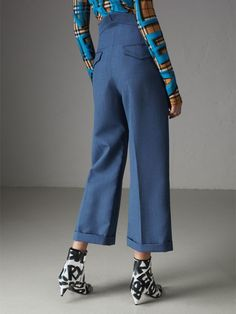 1e5fc131 Turnback trousers by #Burberry cut from fine tailoring cloth with a relaxed  wide leg Bukser