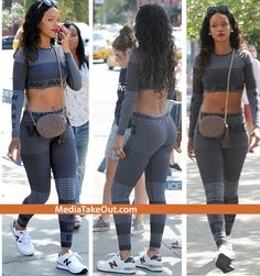 PICS: Rihanna Is Photo'd Out Wearing GYM CLOTHES . . . And She Looks Like JOSELINE From Love And Hip Hop . . . WITHOUT THE SILICONE!!