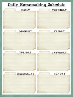 Smile Like You Mean it: Cleaning Schedule