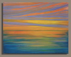 abstract sunset, water, ocean, sea painting - Google Search