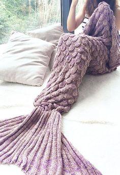 width Mermaid Blanket Yarn Knitted Mermaid Tail Blanket Handmade Crochet Soft Home Sofa Sleeping Bag Adults Sleeping Sweater Weather, Fairy Mermaid, Mode Kawaii, Do It Yourself Inspiration, Mermaid Tail Blanket, Mermaid Blankets, Mermaid Tails, Looks Cool, My New Room