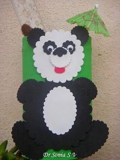 Tin can recycling craft : Panda Craft Tutorial