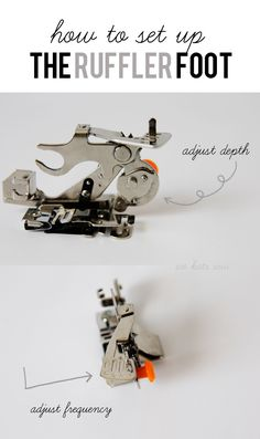 Melody loves the ruffle foot! // sewing 101: the ruffler foot revisited - see kate sew