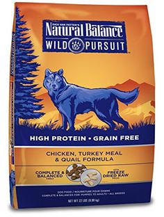 Natural Balance Wild Pursuit Chicken Turkey Meal  Quail Formula Dry Dog Food 22Pound * Continue to the product at the image link. (Note:Amazon affiliate link)