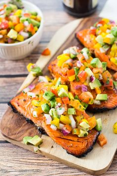 This BBQ Salmon with Avocado Salsa is quickly going to become your next go-to summer dinner recipe - ready in just 20 min, it's perfect for busy weeknights!