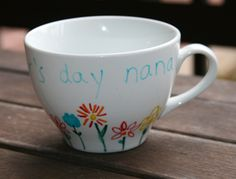 For our May craft, we teach you how to personalize mugs and cups for Mother's Day!