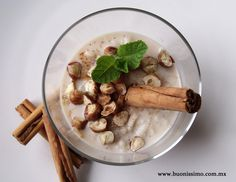 Arroz con tres leches y avellanas tostadas #dulce #buonissimomexico #chalupinski