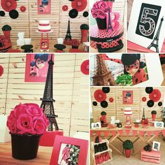 Joint Birthday Parties, Frozen Birthday Party, Birthday Diy, Birthday Party Favors, Birthday Party Decorations, Ladybug E Catnoir, Ladybug Cakes, Geek Party, Diy Party