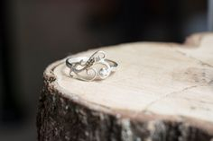 Rough Uncut Natural Diamond Ring with Sterling by MirielDesign
