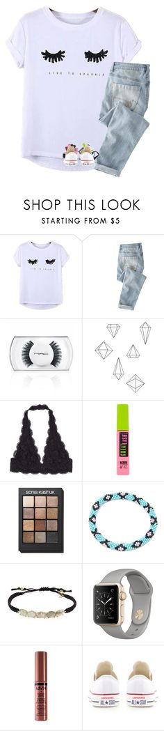 """guys... i really want a boyfriend"" by kat-attack ❤ liked on Polyvore featuring Chicnova Fashion, Wrap, MAC Cosmetics, Umbra, Maybelline, Sonia Kashuk, Tai, NYX and Converse"