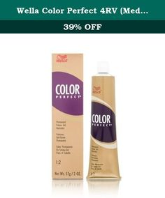 Wella Color Perfect 4RV (Medium Red Violet Brown). An excellent array of creme gel colors formulated to be completely interminable to create any shade desired with predictable natural looking results.