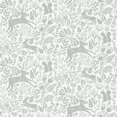 by Scion  'Kelda' by Scion is a delightful woodland scene in springtime, complete with baby deer, squirrels, hedgehogs, hares – to name but a few!  click here if you wish to order samples  easy paste the wall application non woven straight match pattern repeat 10 in roll 20.5 in wide, 33 ft long coverage 56 sq. ft.