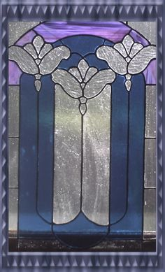 art noveau stained glass window panel by pj57 on Etsy, $150.00