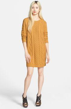 Open Back Knit Sweater Dress Girls Sweater Dress, Cable Knit Sweater Dress, Cable Knit Sweaters, Knit Dress, Tricot D'art, Moda Crochet, Baby Knitting, Ideias Fashion, Knitwear