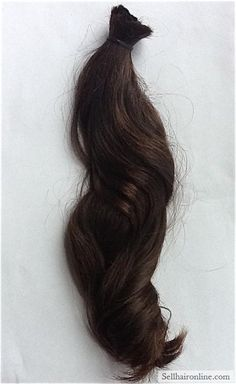 Cool Lovely Dark Brown Virgin Hair with Natural Reddish-Brown Highlights For Sale!