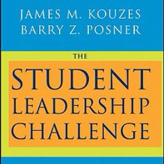The Student Leadership Challenge is must read for youth leaders aspiring to achieve exemplary things for those they serve.   Jim and Barry's research and insights into leadership reveal five exemplary practices of leaders:  1. Model the Way 2. Inspire a shared vision 3. Challenge the process 4. Enable others to act 5. Encourage the heart  TeamTRI says get this book to rock your leadership understanding.