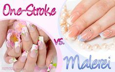 #nails  #one-stroke #painting   #nails  One-Stroke vs. Malerei: Was gefällt Euch besser auf den Fingernägeln? Wir sind gespannt! Eure Nina