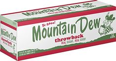 Mountain Dew Throwback Cans (12 Count, 12 Fl Oz Each) ** Check this useful article by going to the link at the image.